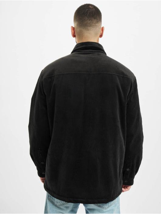 Urban Classics Prechodné vetrovky Corduroy Shirt èierna