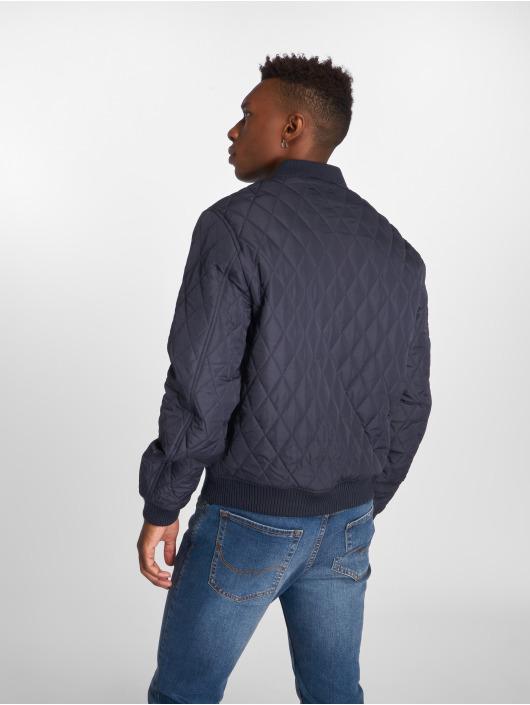 Urban Classics Prechodné vetrovky Diamond Quilt Nylon modrá