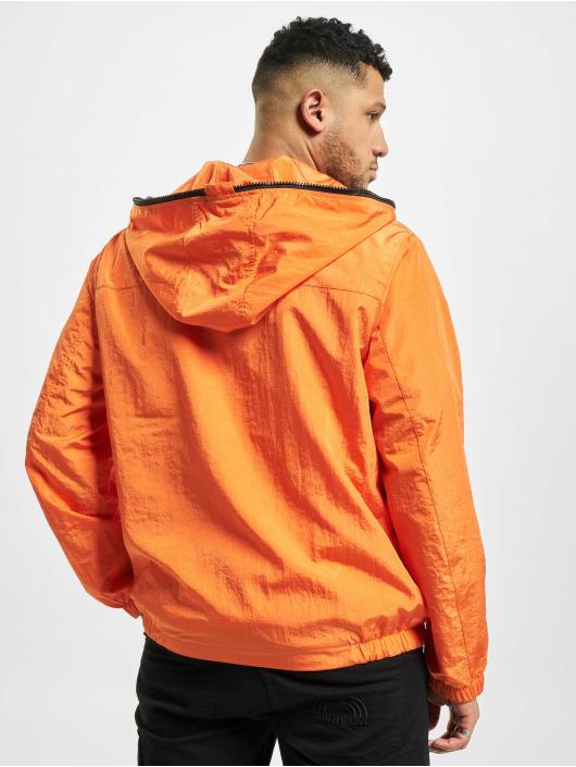 Urban Classics Prechodné vetrovky Full Zip Nylon Crepe oranžová