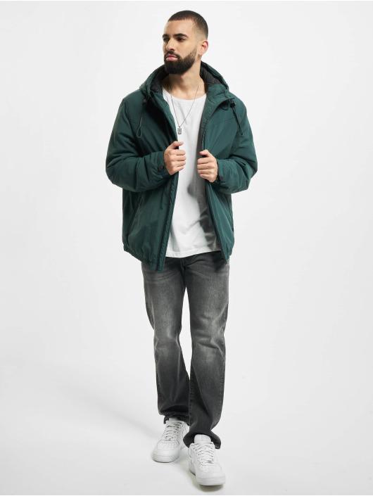 Urban Classics Prechodné vetrovky Hooded Easy zelená