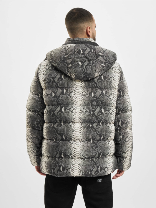 Urban Classics Prošívané bundy Hooded AOP šedá