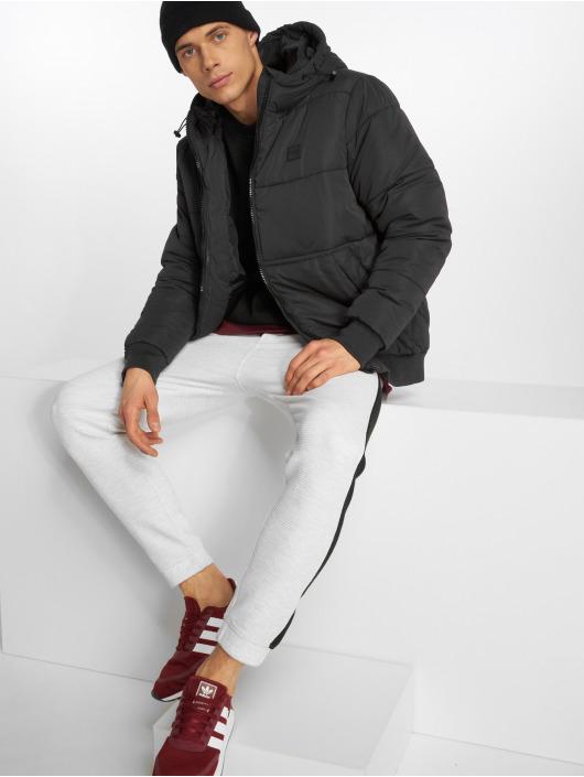 Urban Classics Puffer Jacket Hooded Peach black