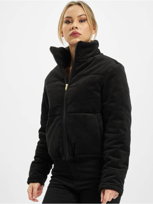 Urban Classics Puffer Jacket Ladies Corduroy black