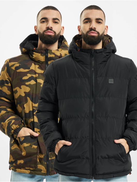 Urban Classics Puffer Jacket Reversible Hooded black