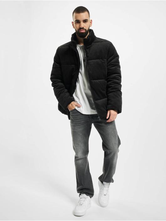 Urban Classics Puffer Jacket Boxy Corduroy black