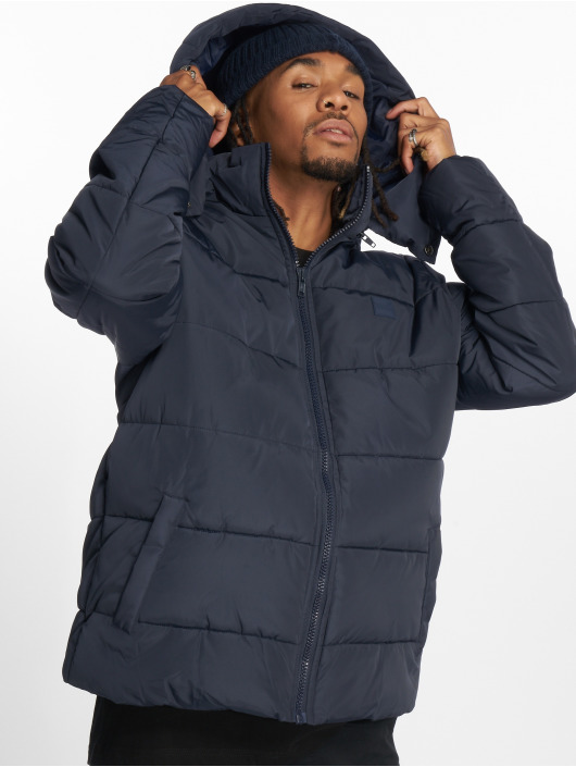 Urban Classics Puffer Jacket Hooded blau