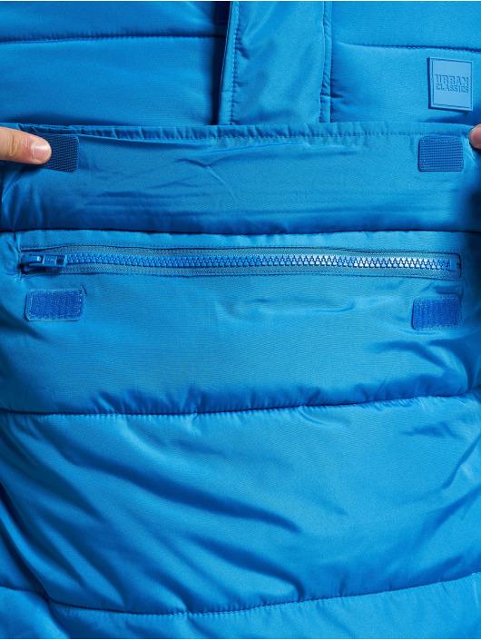 Urban Classics Puffer Jacket Pull Over blau