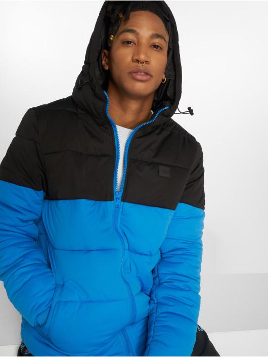 Urban Classics Puffer Jacket Hooded 2-Tone blau