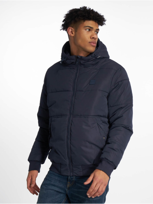 Urban Classics Puffer Jacket Hooded Peach blau