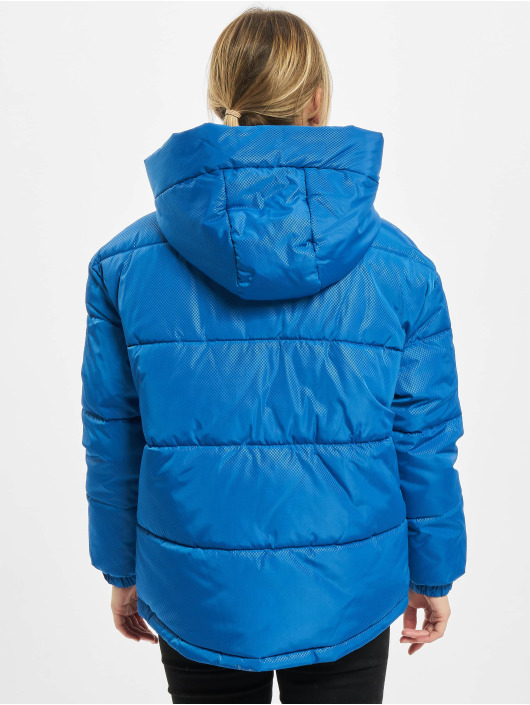 Urban Classics Puffer Jacket Ladies Oversized Hooded blau