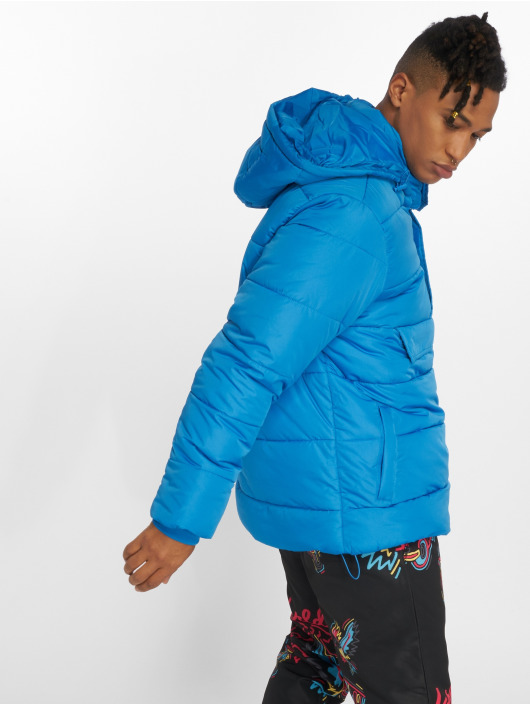 Urban Classics Puffer Jacket Pull Over blue