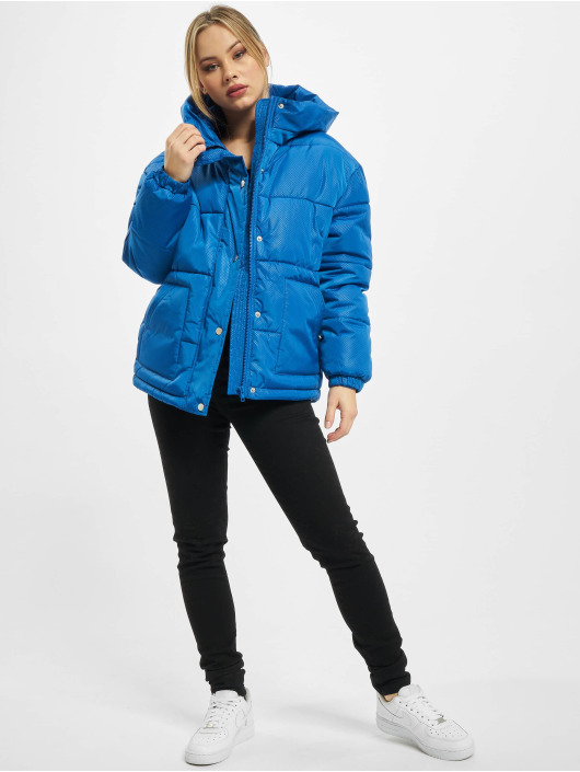Urban Classics Puffer Jacket Ladies Oversized Hooded blue