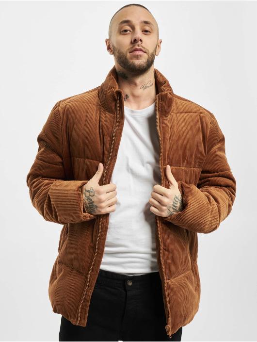Urban Classics Puffer Jacket Boxy Corduroy braun