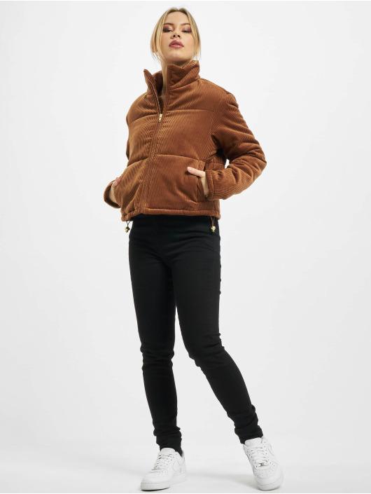 Urban Classics Puffer Jacket Ladies Corduroy brown
