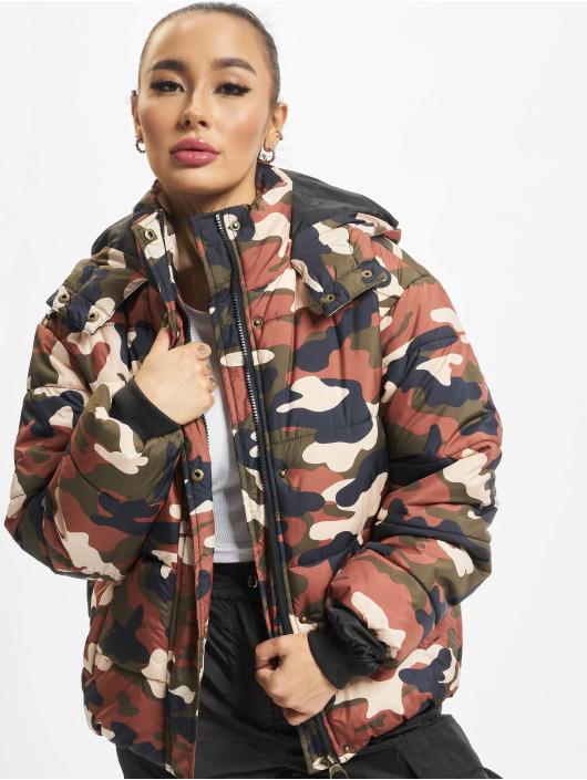 Urban Classics Puffer Jacket Boyfriend Camo camouflage