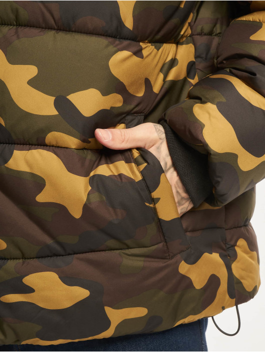Urban Classics Puffer Jacket Hooded Camo camouflage