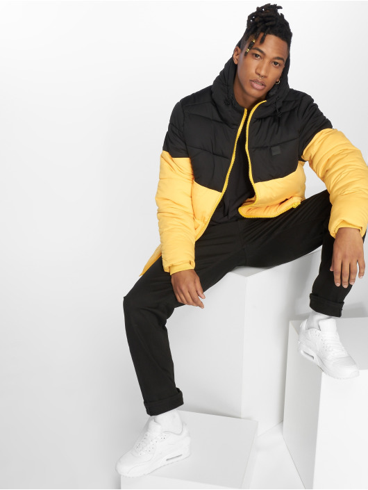 Urban Classics Puffer Jacket Hooded 2-Tone gelb