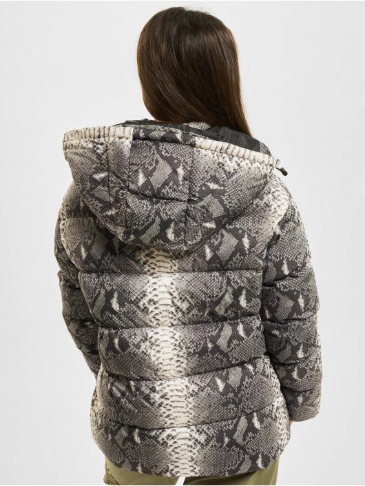 Urban Classics Puffer Jacket Ladies AOP gray