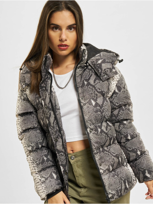 Urban Classics Puffer Jacket Ladies AOP grey