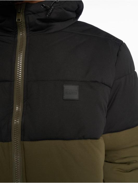 Urban Classics Puffer Jacket Hooded 2-Tone olive
