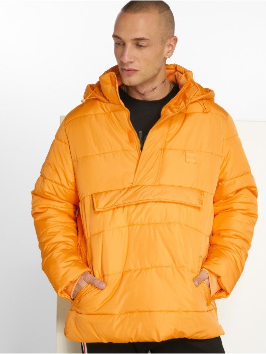 Urban Classics Puffer Jacket Pull Over orange