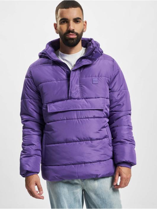 Urban Classics Puffer Jacket Pull Over purple