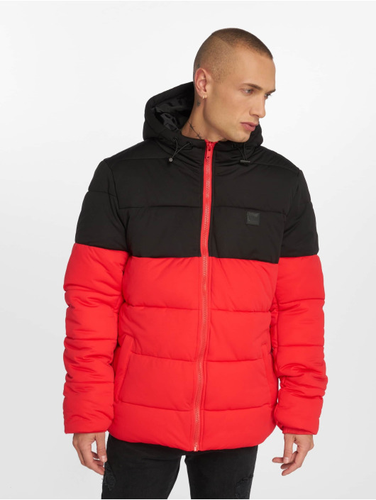 Urban Classics Puffer Jacket Hooded 2-Tone red