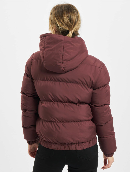 Urban Classics Puffer Jacket Ladies Hooded red
