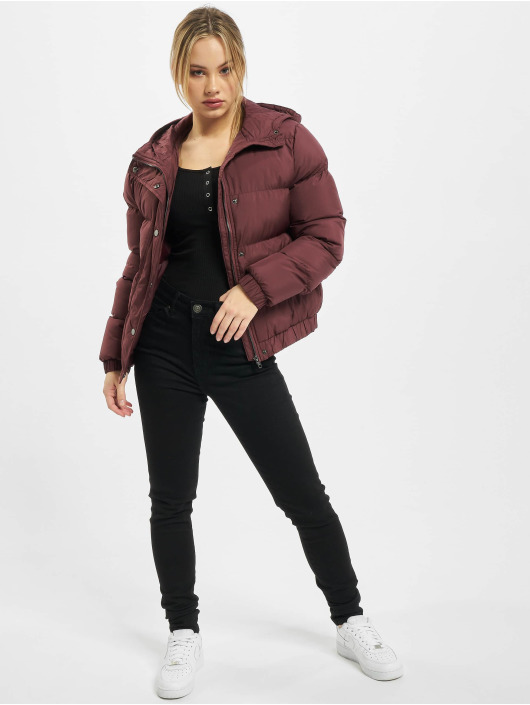 Urban Classics Puffer Jacket Ladies Hooded rot