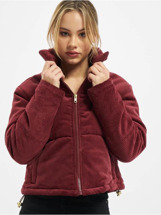 Urban Classics Puffer Jacket Ladies Corduroy rot