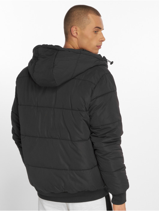 Urban Classics Puffer Jacket Hooded Peach schwarz