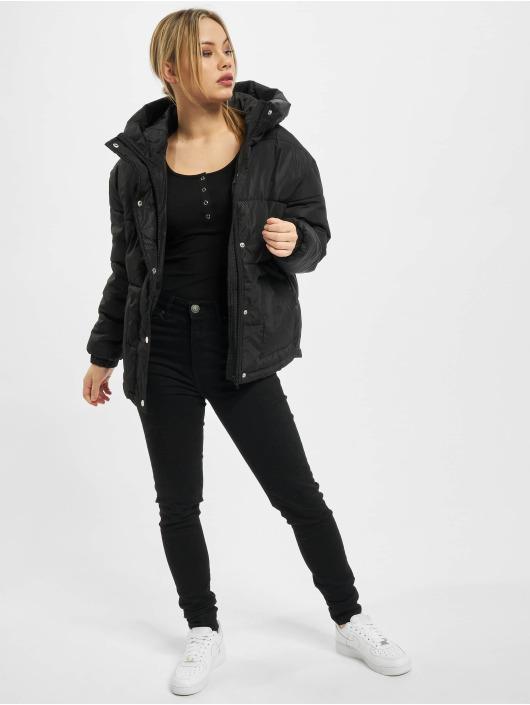 Urban Classics Puffer Jacket Ladies Oversized Hooded schwarz