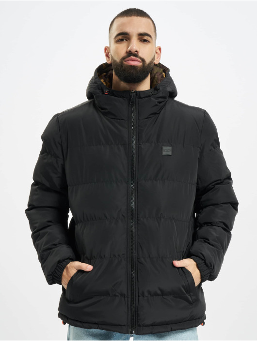 Urban Classics Puffer Jacket Reversible Hooded schwarz