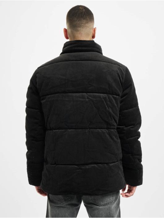 Urban Classics Puffer Jacket Boxy Corduroy schwarz