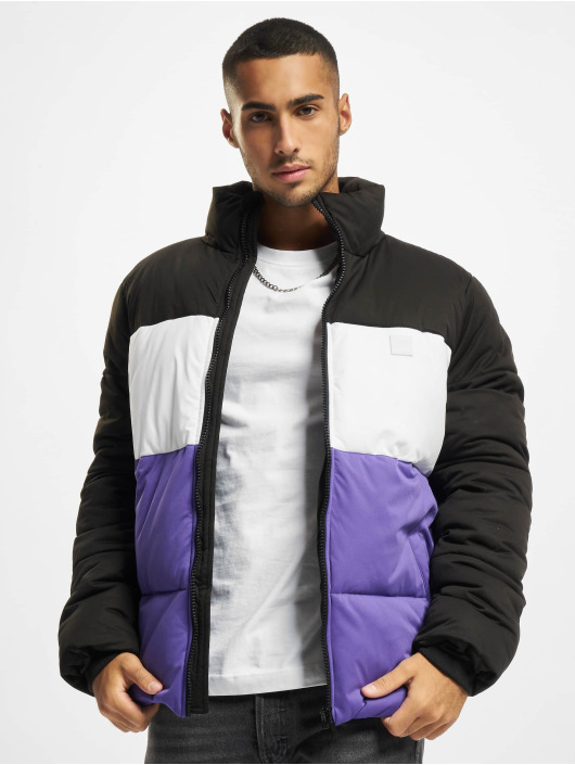 Urban Classics Puffer Jacket 3-Tone Boxy schwarz