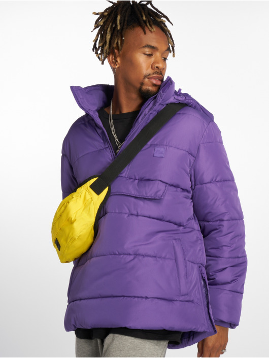 Urban Classics Puffer Jacket Pull Over violet