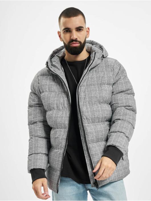 Urban Classics Puffer Jacket Hooded Check weiß
