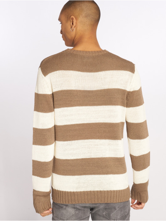 Urban Classics Pullover Striped beige