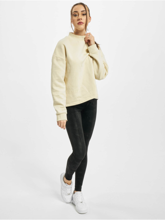 Urban Classics Pullover Ladies Oversized High Neck Crew beige
