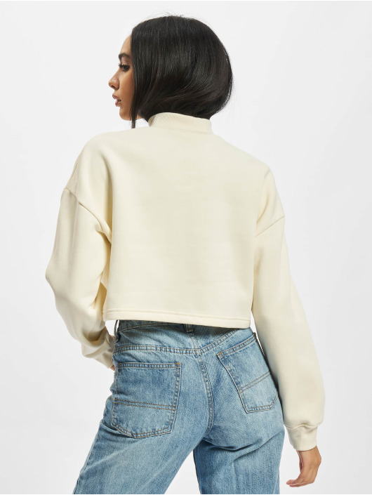 Urban Classics Pullover Ladies Cropped Oversized High Neck beige