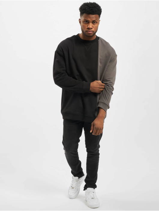 Urban Classics Pullover Side Block Crew black