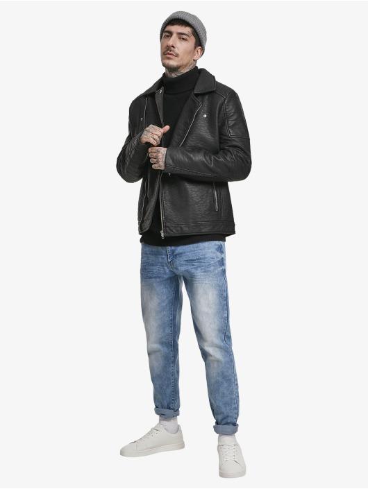 Urban Classics Pullover Cardigan Stitch Roll Neck black