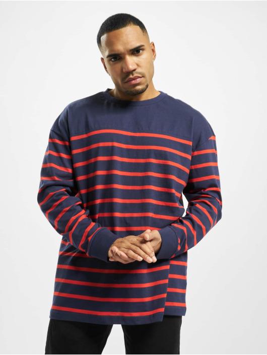 Urban Classics Pullover Color Block Stripe Boxy blau