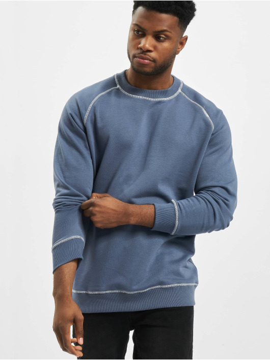 Urban Classics Pullover Contrast Stitching Crew blau
