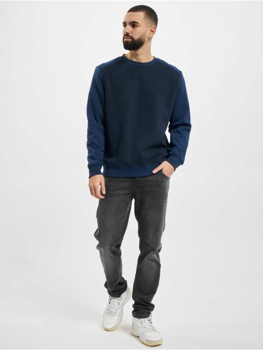 Urban Classics Pullover 2-Tone Fake Raglan blau