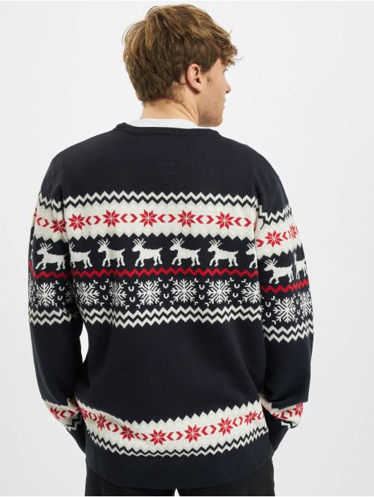 Urban Classics Pullover Norwegian Christmas blau