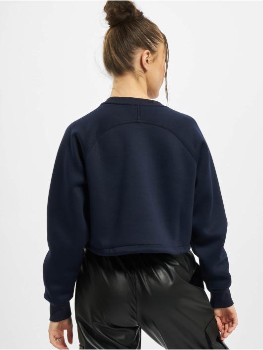Urban Classics Pullover Ladies Oversized Short Raglan Crew blue