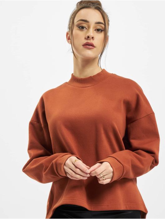 Urban Classics Pullover Ladies Oversized High Neck braun