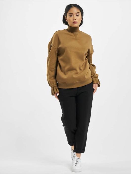 Urban Classics Pullover Ladies Turtleneck brown