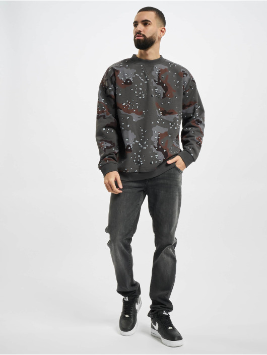 Urban Classics Pullover Oversized Dark AOP camouflage